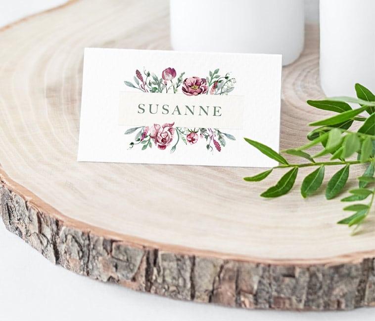 bordkort på træskive