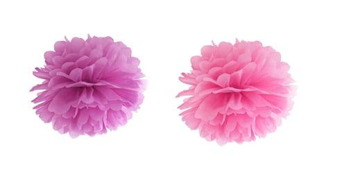 lyserøde pom poms
