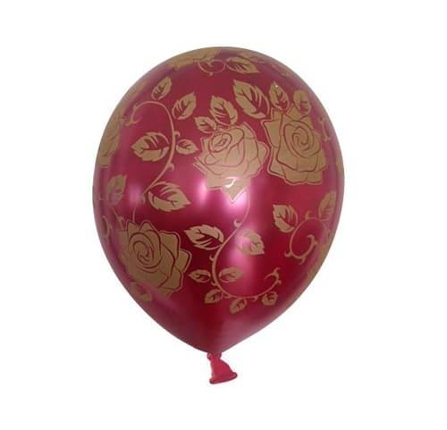 ballon med rose mønster