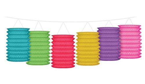 papirlanterner i flotte farver