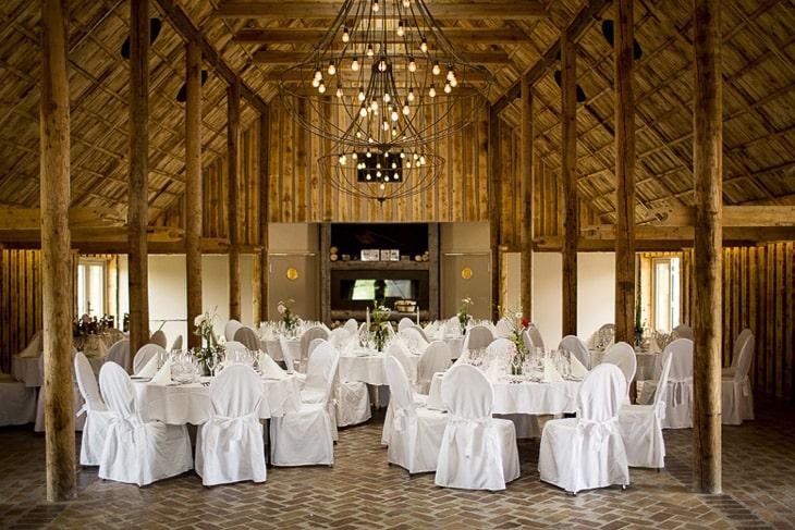 Bryllupsopdækning i Valhalla Nordic Park