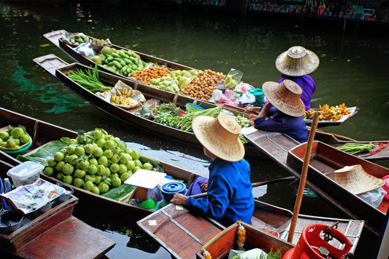både bangkok flydende marked