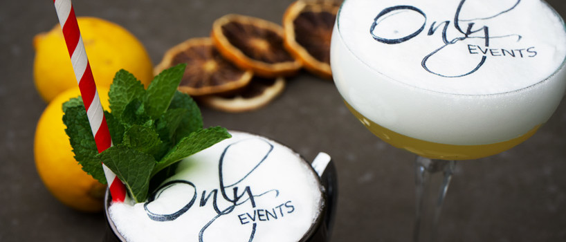 Grafiske cocktails til brylluppet