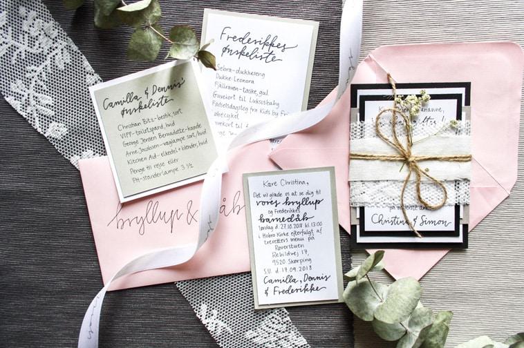 håndskrevne-invitationer-og-ønskelister