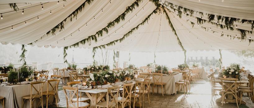 Havebryllup i telt