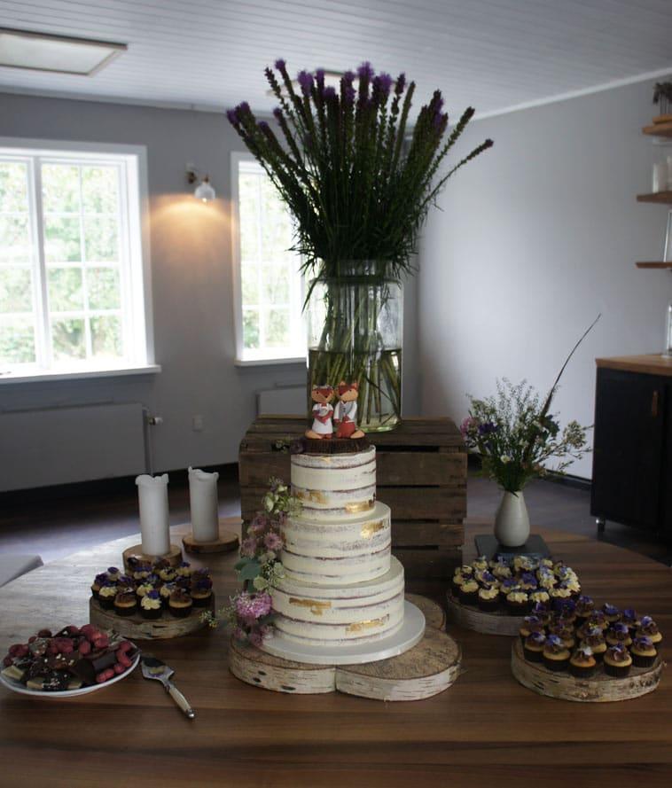 bryllupskage og andre kager