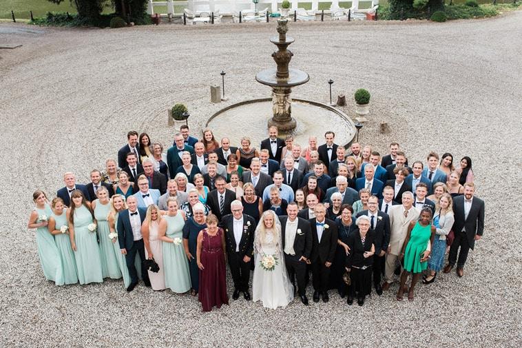 kongebillede af bryllupsselskab