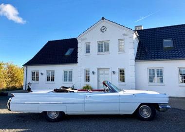 Hvid Cadillac DeVille