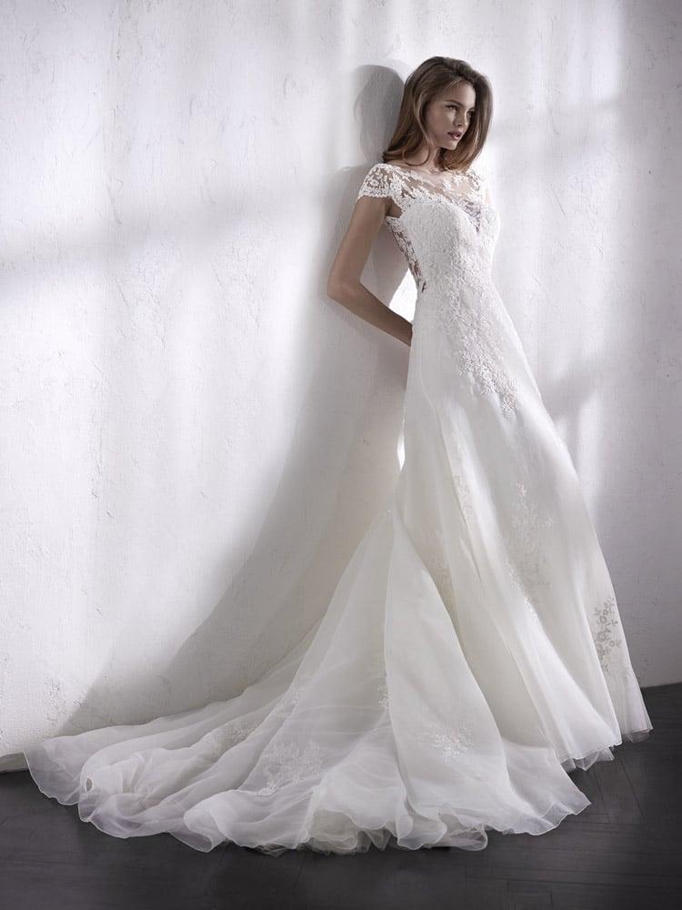 blød blonde brudekjole
