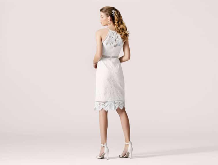 kort blonde brudekjole