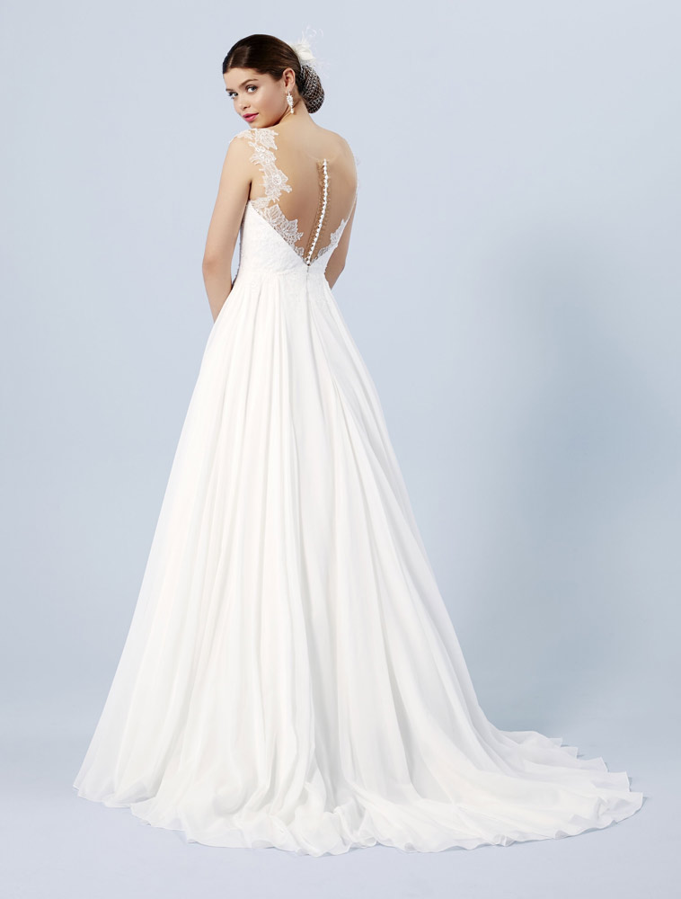 Brudekjole med bodice lace og blonder
