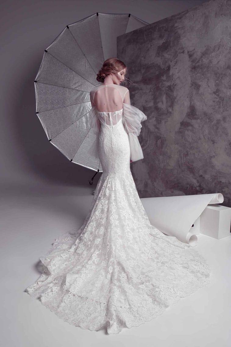 havfrue formet brudekjole