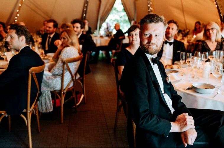 Bryllupsfest i tipi telt