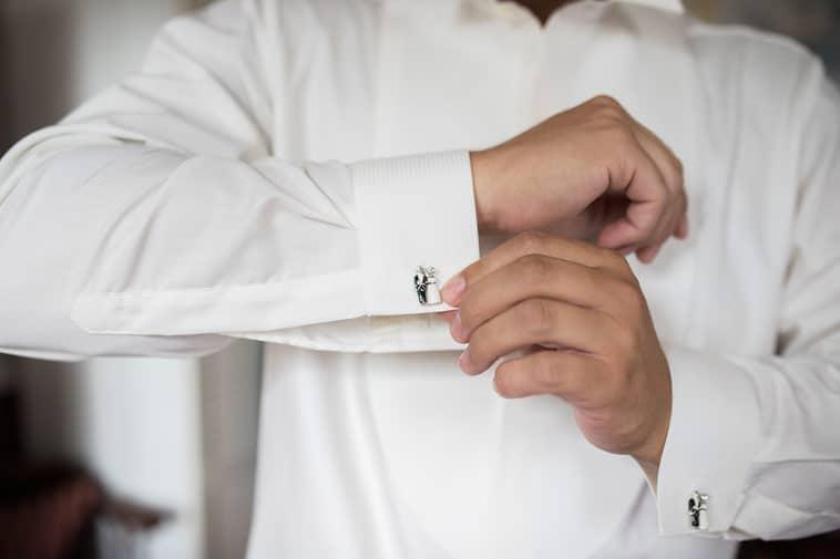 manchetknapper med brudepar