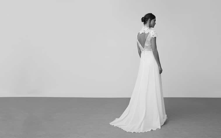 brudekjole med flot blonde ryg