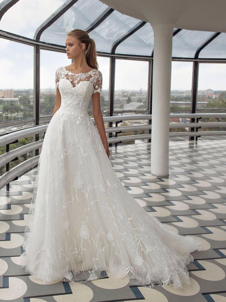 A-line brudekjole med blonde