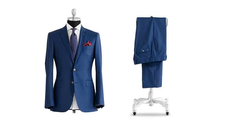 blåt jakkesæt