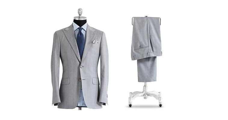 lysegråt jakkesæt