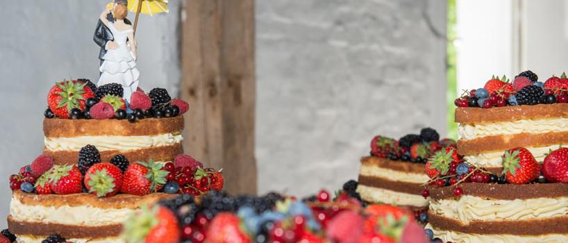 Naked cake bryllupskage