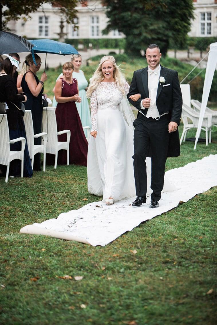 nygift brudepar