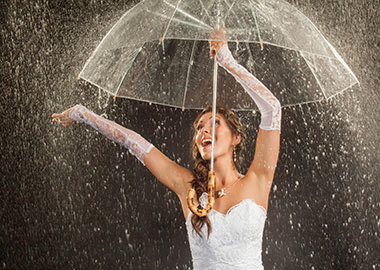 Brud med paraply