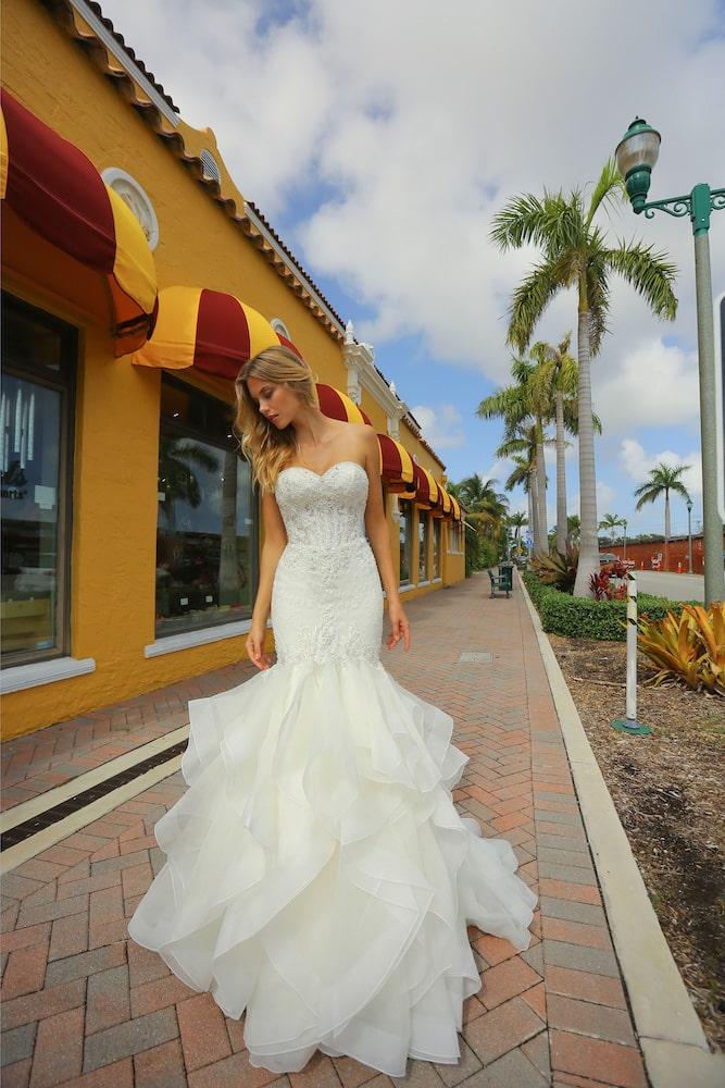 Brudekjole havfrue model