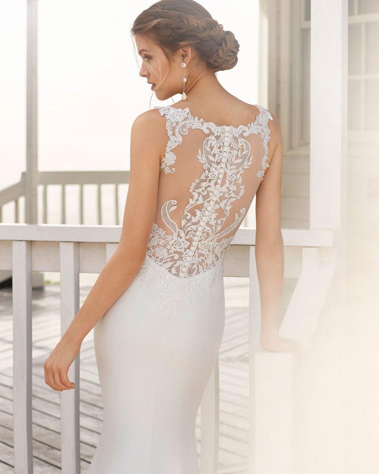 Brudekjole med smuk blonde ryg