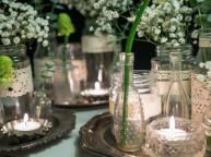 Lav rustikke blonde vaser i vintagestil