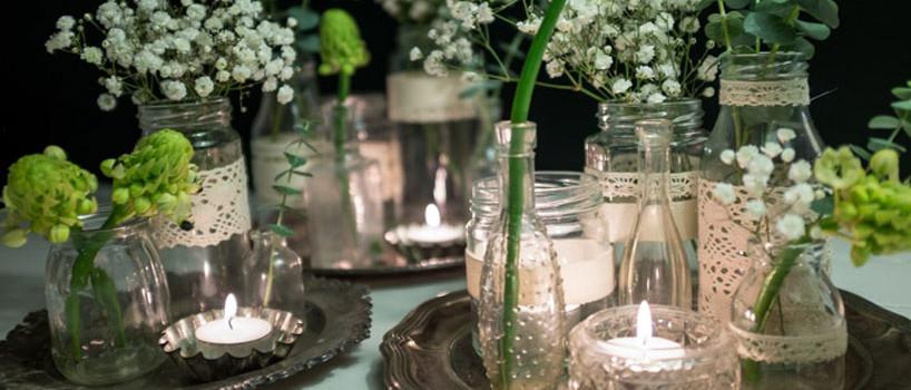 Rustikke blonde vaser i vintagestil