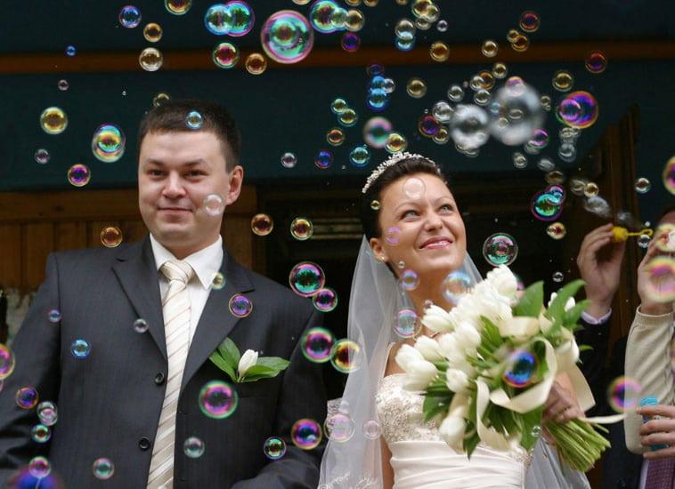 sæbebobler til bryllup