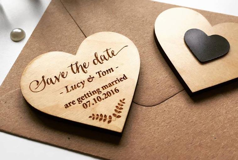 save the date kort som magnet