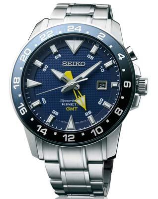 Seiko ur med blå urskive