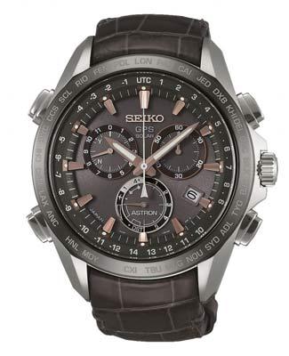 Seiko ur med brun læderrem