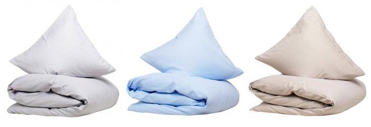 sengetøj blå, beige og brun fra cphliving