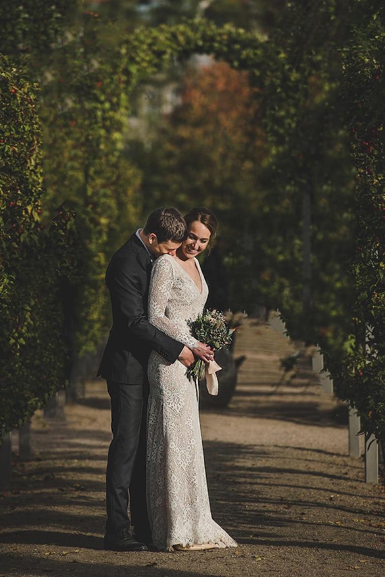 brudepar ved rosenborg slot