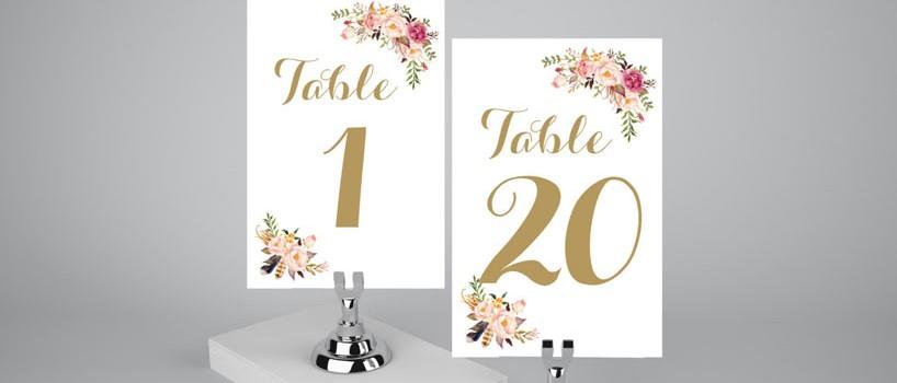 Skilte til bryllupsbordet