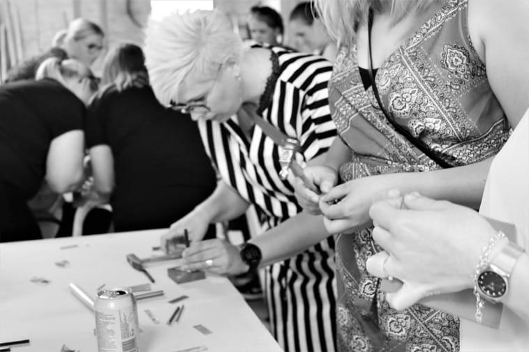 smykke workshop til polterabend
