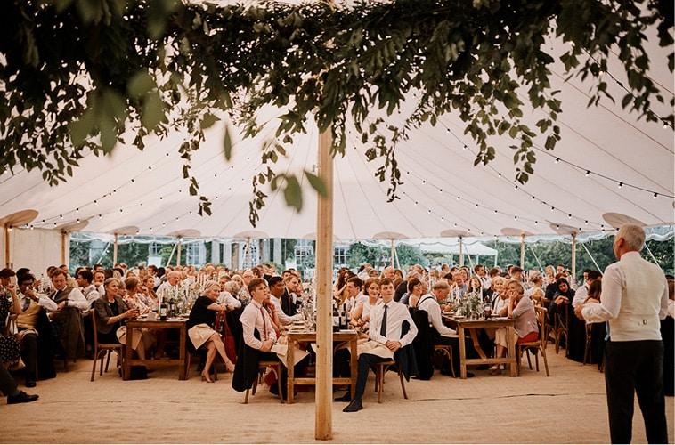 Bryllup i luksus Sperry telt