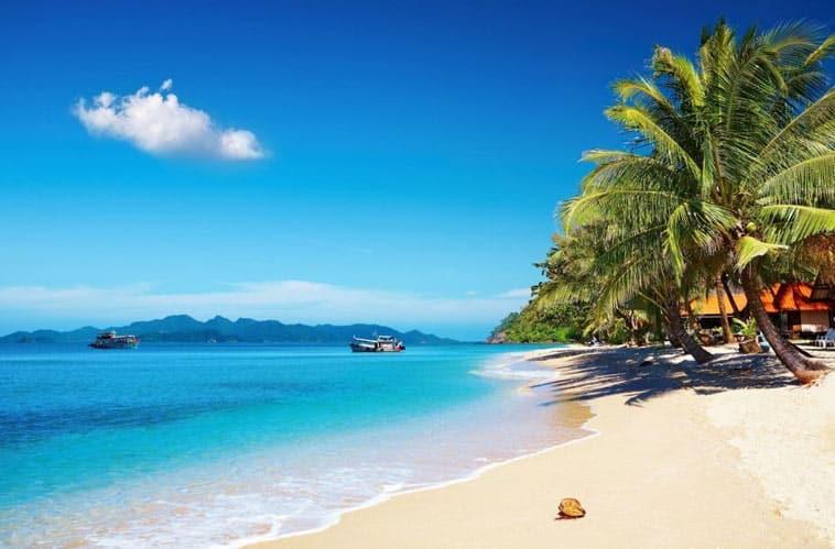 hvid sandstrand thailand