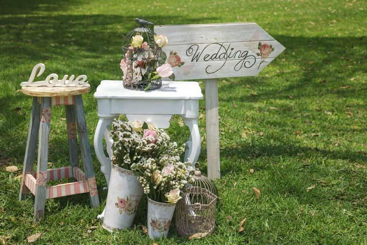 bryllups dekoration i vintage stil