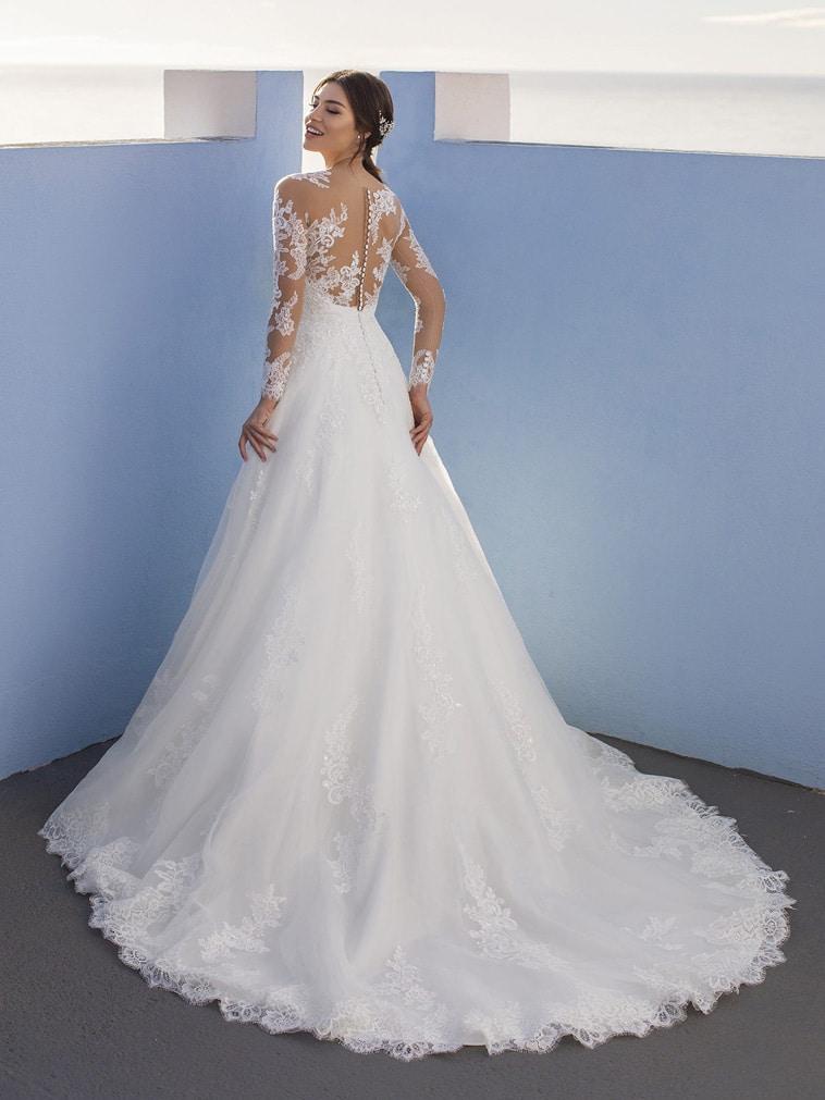 A-line brudekjole med lange ærmer