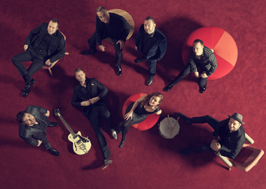 Musikere set oppefra