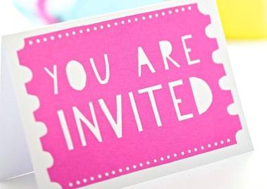 Invitations billet